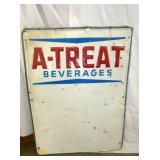 26X36 EMB. A TREAT BEVERAGES SIGN