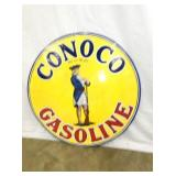 25IN PORC. CONOCO GASOLINE SIGN