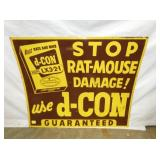 27X32 D-CON RAT DAMAGE SIGN