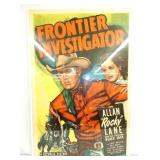 ALL 28X43 1949 FRONTIER INVESTIGATOR POSTER