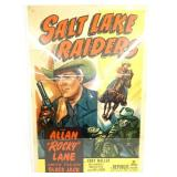1950 SALT LAKE RAIDERS POSTER