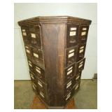 VIEW 2 SIDE EARLY OAK BOLT BIN