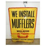 27X39 EMB. MUFFLERS SELF FRAMED SIGN