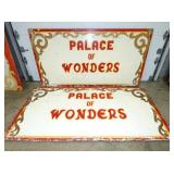 48X96 (2) PALACE OF WONDERS WOODEN SIGNS