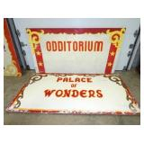 48X96 ODDITORIM,PALACE OF WONDERS TOPPERS
