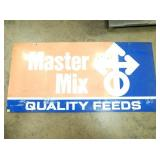 34X70 MASTER MIX QUALITY FEED SIGN