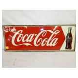 12X32 COCA COLA ARROW SIGN W/ BOTTLE