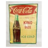 19X28 1963 COKE FISH TAIL KING SIZE SIGN