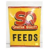 14X18 SX SPARTAN FEEDS SIGN