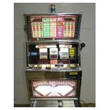 VIEW 2 DOUBLE DIAMOND WORKING SLOT MACHINE