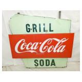 56X60 PORC. COKE BULL NOSE SLED SIGN