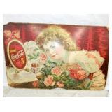RARE 28X43 5CENT COKE CARDBOARD