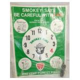 18X24 SMOKEY BEAR CARDBOARD DISPLAY