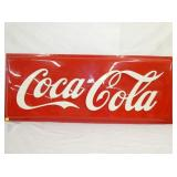 24X60 EMB. COCA COLA PLASTIC SIGN