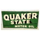 1957 34X70 EMB. QUAKER STATE OIL SIGN