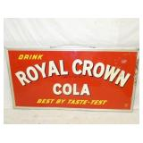 36X70 1951 EMB. ROYAL CROWN SIGN