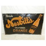 34X60 NESBITTS ORANGE DRINK SIGN