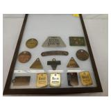 VARIOUS BRASS ESSO PUMP TAGS