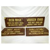 EARLY WOODEN SIDE SHOW SIGNS