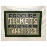 24X34 WOODEN CAROUSEL TICKETS SIGN