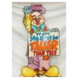 24X42 WOODEN CLOWN CIRCUS SIGN