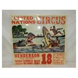 27X28 UNITED NATIONS CIRCUS POSTER