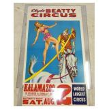 28X48 CLYDE BEATLY CIRCUS POSTER
