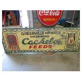 30X98 METAL CACKELO FEEDS SIGN