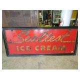 25X62 EMB. SEALTEST ICE CREAM SIGN