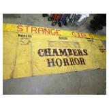 86X243 CHAMBERS HORROR CARNIVAL BANNER