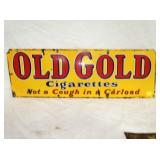 12X34 PORC. OLD GOLD CIG. SIGN
