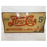 12X23 EMB. PEPSI 5CENT DOUBLE DOT SIGN