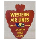 PORC. DIE CUT WESTERN AIR LINES
