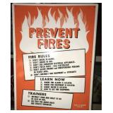 PREVENT FIRES SAFETY TIN SIGN