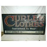 48X95 CURLEE CLOTHS WEAR SCHMALTZ SIGN
