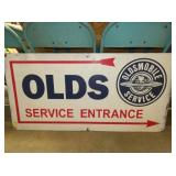 24X48 OLDSMOBILE SERVICE SIGN