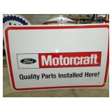 NOS 50X72 EMB. MOTORCRAFT PARTS SIGN