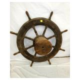 40IN LG WOODEN SHIPS WHEEL