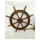 38IN WOODEN SHIPS WHEEL