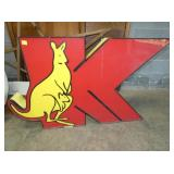30IN LIGHTED KANGAROO SIGN