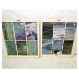 34X37 STAINED GLASS WINDOWS