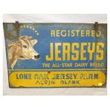 23X36 REGISTERED JERSEYS SIGN