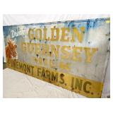 VIWE 4 45X93 GOLDEN GUERNSEY SIGN