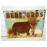 VIEW 2 OTHERSIDE HEREFORDS SIGN W/ BULL