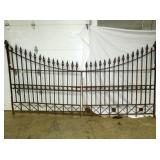 73X17 RARE WROUGHT 2PC. IRON GATE