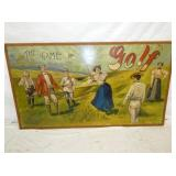29X50 WOODEN GOLF SIGN NICE COLOR
