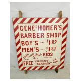 45X48 WOODEN GENE & HOMERS SIGN
