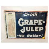 9X27 EARLY GRAPE JULEP DRINK SIGN