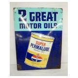 20X34 AMERICAN PERMALUBE OIL SIGN