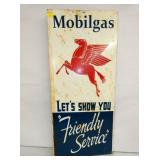 MOBIL GAS FRIENDLY SERVICE SIGN